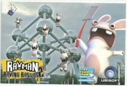 Rayman Raving Rabbids Ubisoft Freerecord Shop   Postkaart Postcard - Publicité