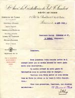 BELGIQUE.DEPOTSOCIETE ANONYME DES CRISTALLERIES DU VAL SAINT LAMBERT.DEPOT DE PARIS 2 CITE DE PARADIS. - Non Classés