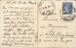CARTE POSTALE 1930 AVEC CACHET HOROPLAN DE LA PETITE PIERRE - Marcophilie (Lettres)