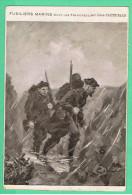 Fusiliers Marins Dans Les Tranchées -par Léon Couturier - Guerre 1914-18