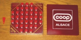 Pub Jeu De Poche Solitaire Coop Alsace 10 X 10 X 2.5 Cm - Reklame