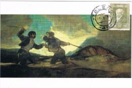11656. Tarjeta Maxima Toledo 1995. Pintor GOYA, Duelo A Garrotazos - Cartoline Maximum