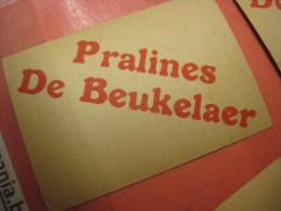 De Beukelaer - 4 Chromos - 4 Cm X 5,5 Cm Approximative - Condition VERY GOOD - Cacao ( Cocoa ) Pralines Exquis - Chromos