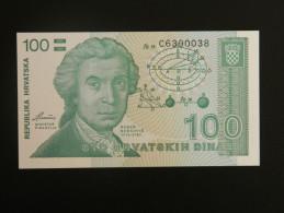 Billet - Croatie - Valeur Faciale : 100 Hrvatski Dinar - 1991 - Jamais Circulé - Motif : Ruder Bosković - Zagreb - Croatia