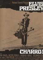 PUBLICITE DE  PRESSE -MANUEL D´EXPLOITATION - FILM CHARRO ! AVEC ELVIS PRESLEY -ANNEE 1969 - Publicidad