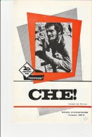PUBLICITE DE  PRESSE -MANUEL D´EXPLOITATION - FILM CHE ! ANNEE 1969-70 - Publicidad