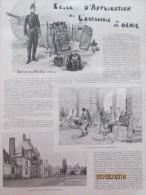 1903  L Ecole Militaire D Application De L Artillerie Et Du Genie   Fontainebleau Metz - Vieux Papiers