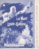 PUBLICITE DE  PRESSE -MANUEL D´EXPLOITATION - FILM : LA NUIT DU LOUP -GAROU - ANNEE 1961 - Cinema Advertisement
