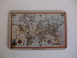 Rádio RDP Internacional  Mapa Dos Descobrimentos Portugal Portuguese Pocket Calendar 1988 - Calendriers