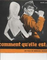 PUBLICITE DE  PRESSE -MANUEL D´EXPLOITATION - FILM : COMMENT QU'ELLE EST ! AVEC EDDIE CONSTANTINE - - Werbetrailer