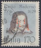 """1979 """"MADERNO"""" L.170 USATO VARIETA' """"COLORE DEL FONDO SPOSTATO"""" N.1071Aa USATO SPLENDIDO - LUXUS USED - 6. 1946-.. Republic"""