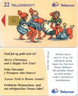 Telefonkarte Norwegen - Weihnachten - N-60 11/95 - Norwegen