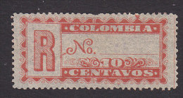 Colombia, Scott #F10, Mint No Gum, Registration Stamp, Issued 1889 - Colombia