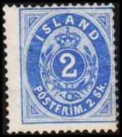 1873. Skilding. 2 Skilling Blue. Perf. 14x13½. Scarce Stamp. (Michel: 1A) - JF128114 - Oblitérés