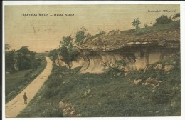 CHATEAUNEUF , Haute Roche , 1910 , CPA ANIMEE - Chateauneuf Sur Charente
