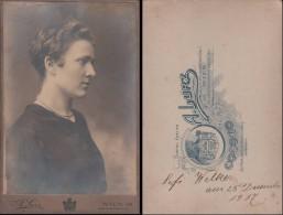 WOMAN Portrait Old Original Vintage Real CABINET Photo 1917 A. Lurz Wien / 19011 S/h=4e/2.5e - Photos