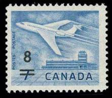 Canada (Scott No. 430 - Surchargé / Jet / 7¢ Overprinted 8¢) [**] - 1952-.... Règne D'Elizabeth II