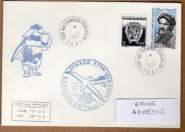 TAAF PLI KERGUELEN  1 2007 CACHETS ILLUSTRES 57ème MISSION TB VOIR PHOTO. - Terres Australes Et Antarctiques Françaises (TAAF)