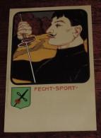 Kunstler Postkarten, Deutscher Sport, FECHT SPORT, Serie Nº 1070, 1900 Meissner & Buch, Art Nouveau, No Circulada - 1900-1949