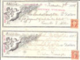 E) 012A CHECK- CHEQUE- ASSEGNO HENRY YOUNGS TRUSTEE DEL 1898 - Cheques & Traverler's Cheques