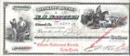 E) 026 CHECK- CHEQUE-ASSEGNO CHASE NATIONAL BANK NEW YORK DEL 1915-16 - Assegni & Assegni Di Viaggio