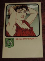 Kunstler Postkarten, Deutscher Sport, SCHWIMM SPORT, Serie Nº 1070, 1900 Meissner & Buch, Art Nouveau, No Circulada - Ilustradores & Fotógrafos