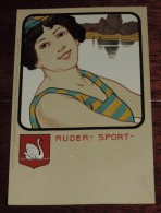 Kunstler Postkarten, Deutscher Sport, RUDER SPORT, Serie Nº 1070, 1900 Meissner & Buch, Art Nouveau, No Circulada - Ilustradores & Fotógrafos