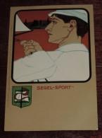 Kunstler Postkarten, Deutscher Sport, SEGEL SPORT, Serie Nº 1070, 1900 Meissner & Buch, Art Nouveau, No Circulada - 1900-1949