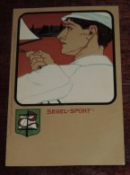 Kunstler Postkarten, Deutscher Sport, SEGEL SPORT, Serie Nº 1070, 1900 Meissner & Buch, Art Nouveau, No Circulada - Ilustradores & Fotógrafos