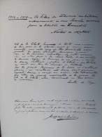 Planche MEMORIAL DES ALLIES 1914-1918. Bernard Naudin. 1926.  (Signataire Portugais)  Norton De MATTOS.  Leotte Do REGO. - Manuscripts