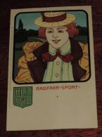 Kunstler Postkarten, Deutscher Sport, RADFAHR SPORT, Serie Nº 1070, 1900 Meissner & Buch, Art Nouveau, No Circulada - 1900-1949