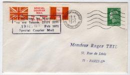 TIMBRE DE GREVE - ANGLETERRE  FRANCE - 1971 - Sur Lettre - Strike Stamps