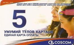 TARJETA DE UZBEKISTAN COSCOM DE 5 UNITS - Uzbekistan