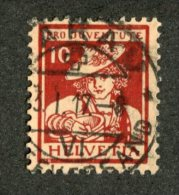 5721  Swiss 1916  Mi.#132  (o)  Scott #B6  (cat. 90.€) Offers Welcome! - Pro Juventute