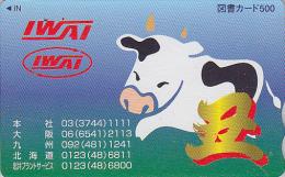 Carte Japon - ZODIAQUE / Série IWAI - BUFFLE VACHE - BUFFALO COW Japan HOROSCOPE Card - BÜFFEL KUH Tosho Karte - 600 - Zodiaco