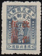 """CHINA (North Eastern) - Scott # J9 Postage Due """"Surcharged"""" (*) / Mint NG Stamp - North-Eastern 1946-48"""