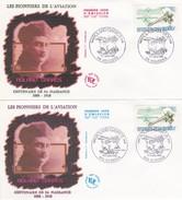 N°2544  De 1988 - Lot De 2 FDC   -  Rolland Garros    - - FDC