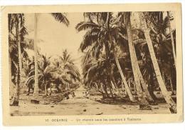 S2357 -10 Océanie - Un Chemin Sous Les Cocotiers à Teaharoa - Cartes Postales