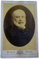 Photographie Jules Grevy Par Charles Jacotin Sur Carton 10.8x16.5cm Cachet Encre Au Dos Ancienne Maison Martinet Paris - Photos