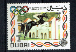 DUBAI  1972 UNUSED OLYMPIC GAMES MUNICH   EQUESTRIAN HORSE HORSES - Summer 1972: Munich