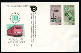 DDR U3-1a-85 C1-a Umschlag ZUDRUCK PHILATELIA KÖLN 1985 - Private Covers - Mint