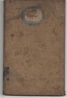 LIVRET OUVRIER - 1856 - Historical Documents