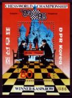 Schaken Schach Chess ajedrez �checs - Korea-Nord 1986 - MiNr 2720 - Block 212