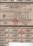 Conseil De La Dette Publique Répartie De L'ancien Empire Ottoman - Récépissé Au Porteur -emprunt 4% 1909 - Banque & Assurance