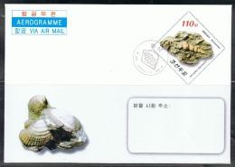 NORTH KOREA 2013 FOSSILS AEROGRAM CANCELED - Fossils
