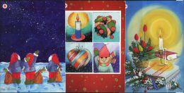 PA1442 Aland 2004 Christmas Santa Claus 3v Postcard MNH - Aland