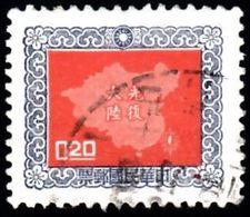CHINA REPUBLIC (Taiwan) - Scott #1179 Map Of China (*) / Used Stamp - 1945-... Republiek China