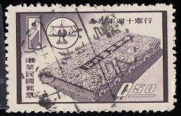 CHINA REPUBLIC (Taiwan) - Scott #1215 The 10th Anniversary Of Constitution / Used Stamp - 1945-... Republiek China
