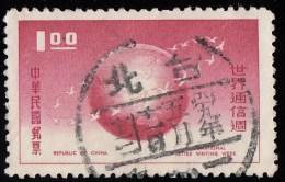 CHINA REPUBLIC (Taiwan) - Scott #1240 International Correspondence Week (*) / Used Stamp - 1945-... Republiek China