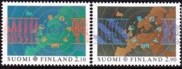 22106 Finland 1991 European Aerospace Year (Europa) 2 Full MNH - Space